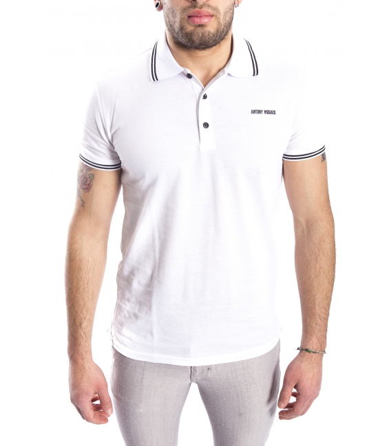 ANTONY MORATO Polo with logo WHITE MMKS00740