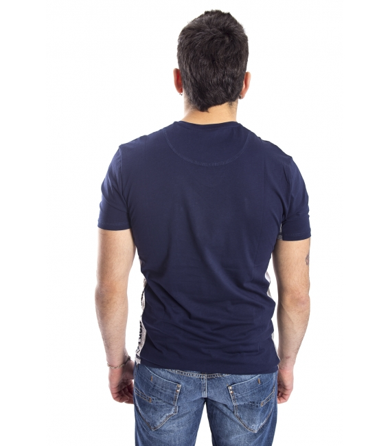ANTONY MORATO T-shirt with V-neck BLU MARINE MMKS00779