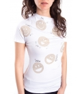 DENNY ROSE T-shirt con smile BIANCO Art. 63DR16022