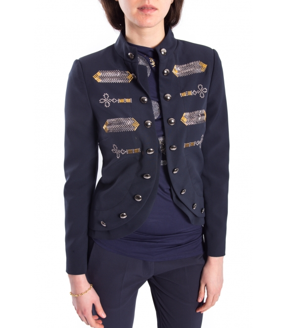 DENNY ROSE Jacket with studs BLUE 63DR13007
