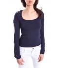 DENNY ROSE T-shirt, long sleeve BLUE Art. 63DR16026