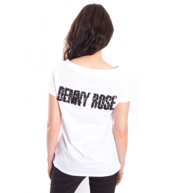 DENNY ROSE T-shirt with print WHITE Art. 63DR16010