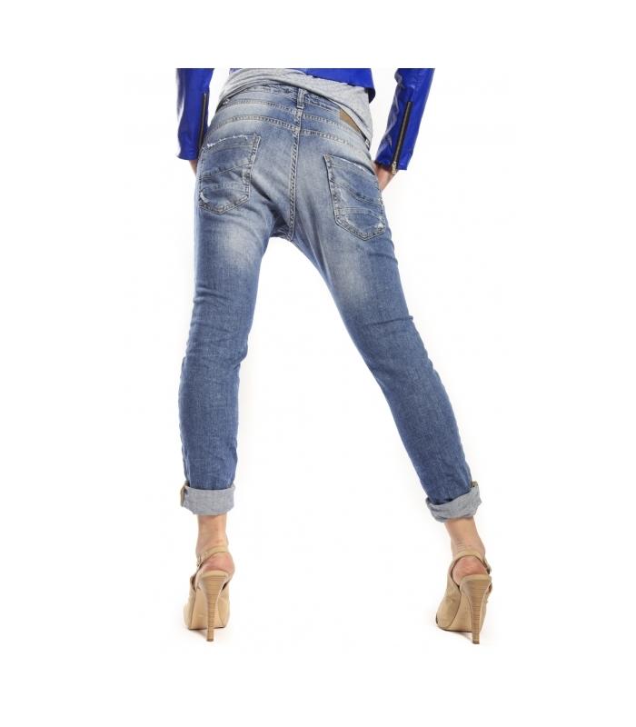 kuuma myynti myyntipisteiden myynti parhaat lenkkarit PLEASE jeans boyfriend baggy 3 buttons with rips DENIM P78 021
