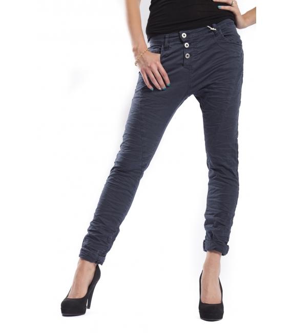 PLEASE jeans boyfriend baggy 3 buttons ULTRA MARINE + 3D P78ULTRAMARINE NEW