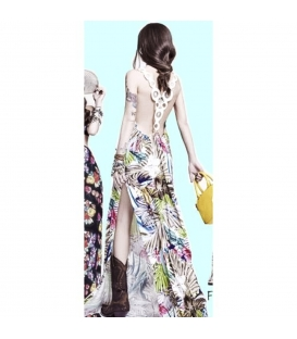 DENNY ROSE Long dress with slit Art. 63DR21026