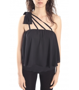 DENNY ROSE Top con fiocco NERO Art. 63DR24000