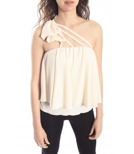DENNY ROSE Top con fiocco WHITE Art. 63DR24000