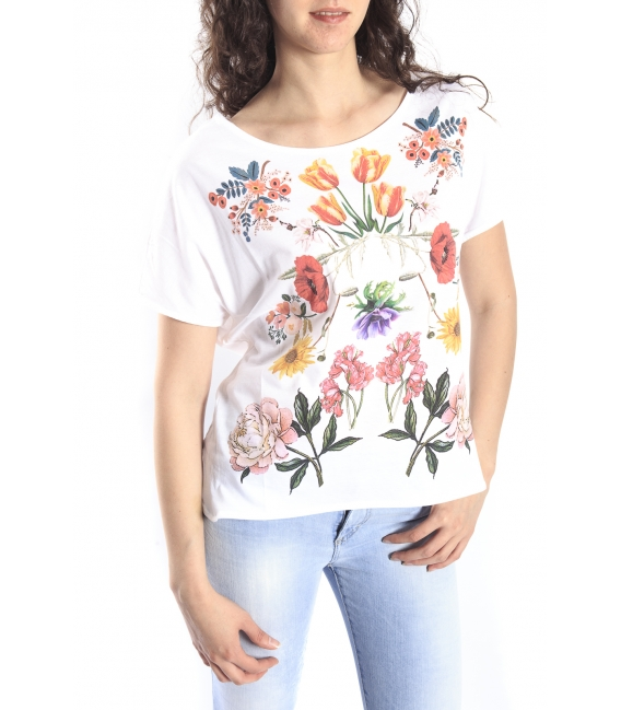 DENNY ROSE T-shirt with print WHITE Art. 63DR26015