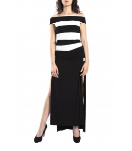 DENNY ROSE Dress + skirt WHITE and BLACK Art. 63DR21025
