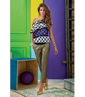 DENNY ROSE Pants with zip GOLD Art. 51DR22004
