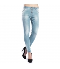 MARYLEY Jeans woman boyfriend baggy TURCHESE Art. B60S/G2F