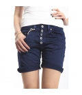 PLEASE shorts boyfriend baggy 5 buttons BLU P88ACV9DQ