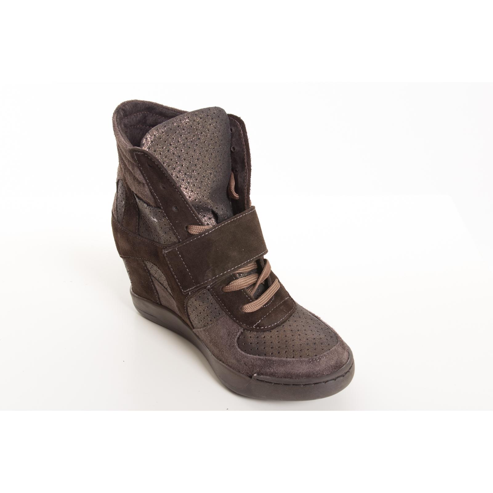 Ovye sneakers scarponcino con tacco interno marrone for Interno 1 scarpe