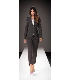 DENNY ROSE giacca gessata con borchie art 6825 GRIGIO INVERNO 2013/14