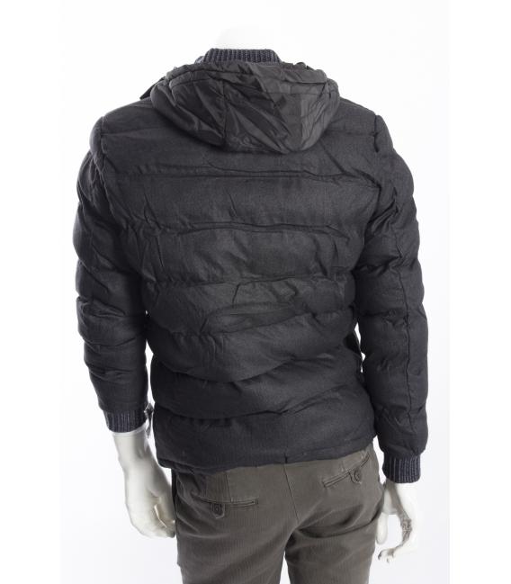 ALCOTT giacca con cappuccio chiusura zip + alamari GRIGIO SCURO