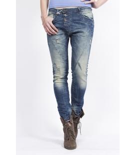 PLEASE jeans boyfriend baggy with rips P78ACQ5BO denim