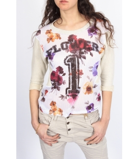PLEASE sweatshirt print with number PELTRO M526D017 NEW