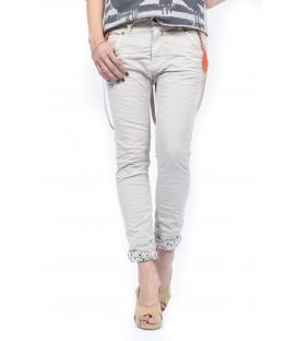 PLEASE jeans boyfriend baggy with zip + braces SASSO P59DCV9DQ NEW