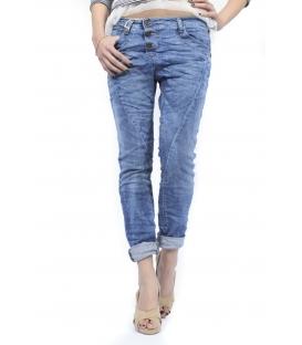 PLEASE jeans boyfriend baggy 3 buttons DENIM P78ABQ2QG NEW