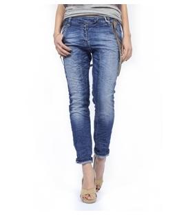 PLEASE jeans boyfriend baggy with braces and studs DENIM P81FB92HC NEW