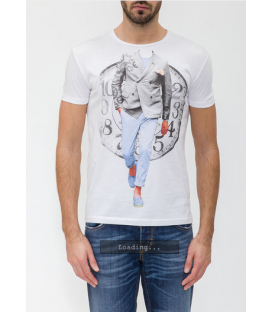 ANTONY MORATO T-shirt in jersey with print WHITE MMKS00296 NEW