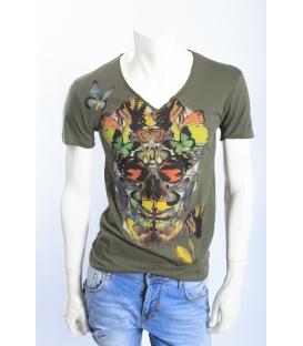 ANTONY MORATO T-shirt in jersey con stampa VERDE MMKS00346 NEW