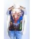 ALCOTT T-shirt con stampa davanti GRIGIO art. TS8322