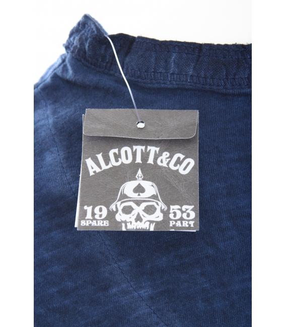 ALCOTT maglia con scollo a V e bottoni BLU art. TS5306