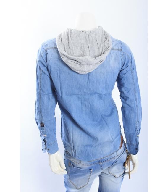 ALCOTT camicia in DENIM con cappuccio staccabile art. TS1091