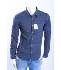 ALCOTT camicia di cotone in fantasia BLU art. UOSS14
