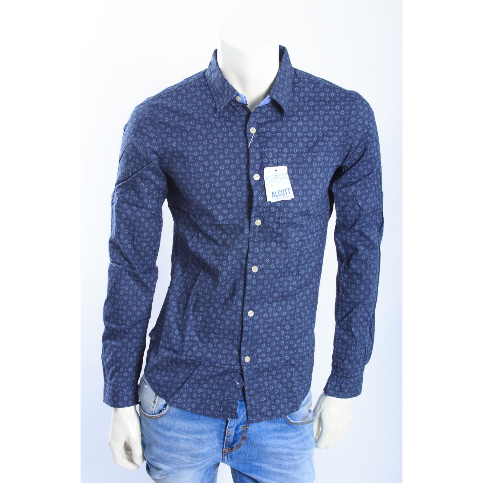 di camicia art in cotone ALCOTT BLU UOSS14 fantasia qpCPzn