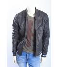 ALCOTT giacca in ecopelle con zip GRIGIO