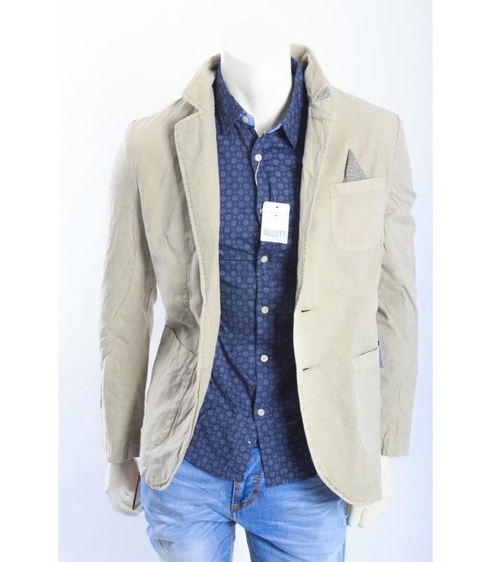 rivenditore all'ingrosso 2e00d 85da5 ALCOTT giacca in canvas con dettaglio taschino BEIGE NEW