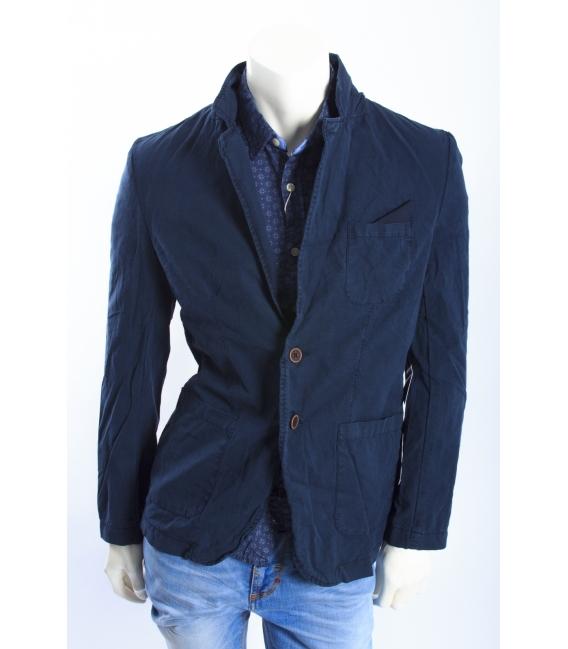 ALCOTT giacca in canvas con dettaglio taschino BLU NEW