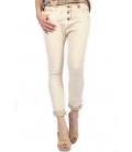 SUSY MIX jeans boyfriend baggy hose art P78 4002 BEIGE new