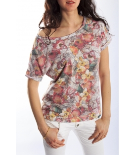 PLEASE T-shirt with print WHITE H908H494 NEW