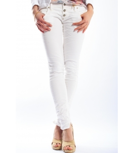 PLEASE jeans 3 buttons slim fit WHITE P83ACV94U