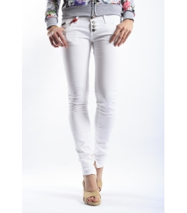 525 jeans slim fit 4 buttons WHITE P454522 NEW