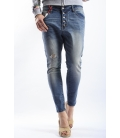 525 jeans boyfriend baggy 5 buttons DARK DENIM P454507 NEW