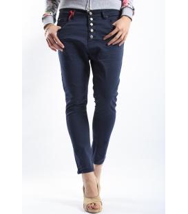 525 jeans boyfriend baggy 5 buttons BLUE P454509 NEW