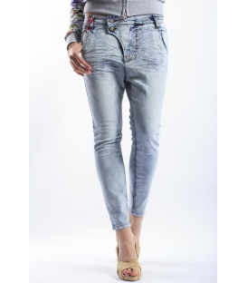 525 jeans boyfriend baggy 2 buttons LIGHT DENIM P454514 NEW