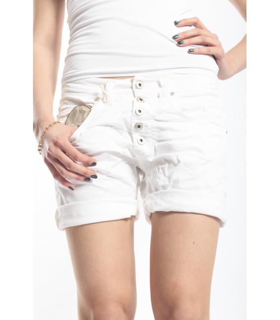 PLEASE short boyfriend baggy 5 buttons WHITE P88ACQ94U NEW