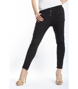 FIRE JEANS COTTON stretch boyfriend baggy color P78 7022 BLACK