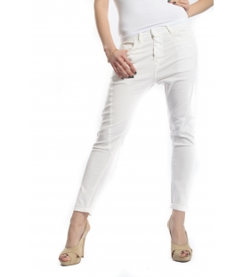 FIRE jeans cotton stretch boyfriend baggy color P78 7023 WHITE