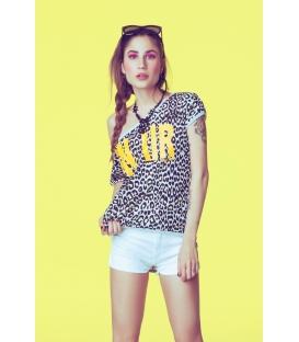 DENNY ROSE T-shirt/felpa maculata con stampa 45DR62022 SUMMER 2014 NEW