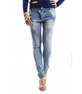MADAME ELYSEES jeans boyfriend baggy P78 M9862 DENIM light