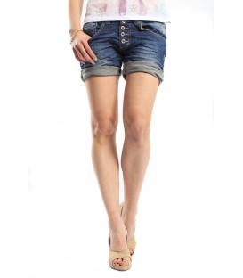 PLEASE shorts boyfriend baggy 5 buttons DENIM dark P88CDC7NV NEW