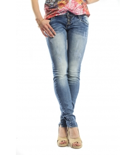 525 jeans slim fit 4 buttons and rips DENIM P454520 NEW