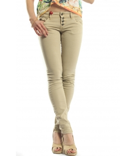 525 jeans slim fit 4 buttons BEIGE P454522 NEW