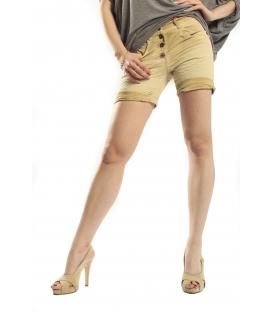 SUSY MIX shorts boyfriend baggy SENAPE 4185 NEW